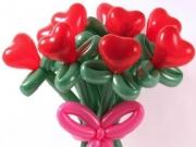 Herzblumen aus Luftballons