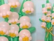 Maiglöckchen aus Luftballons