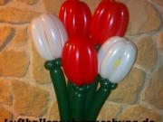 Tulpen aus Luftballons
