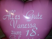 Folienballon mit Text