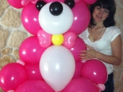 Großer Teddy Bär aus Luftballons