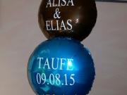 Beschriftung auf Folienballons