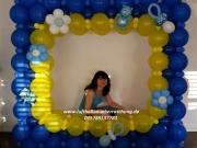 Fotoshootingrahmen aus Luftballons/Babyparty