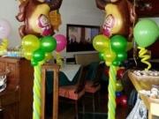 "Luftballondekoration ""Mascha und Bär"""