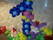 Luftballondekoration zum 1. Geburtstag