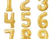 Folienzahlen in gold mit Helium