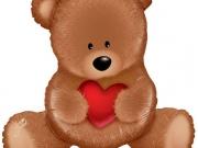 """Folienballon """"Teddy Bär love"""""""