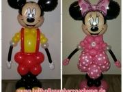 Grosse Mickey- und Minnie Mouse aus Luftballons