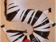 """Zahl """"5"""" Folienballon Zebra"""