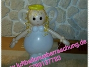 "Engel aus Luftballons ""Happy Birthday"""