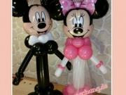 Brautpaar Minnie und Mickey Mouse aus Luftballons