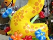 """Zahl """"2"""" Folienballon Giraffe"""