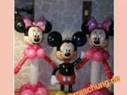 2 St. Minnie Mouse aus Luftballons, Airwalker Mickey Mouse
