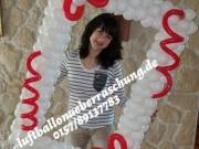 Fotoshootingrahmen aus Luftballons/Rahmen