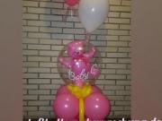 Luftballondekoration zur Geburt