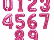 Folienzahlen in pink mit Helium