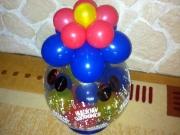 Geldverpackung in einem Luftballon