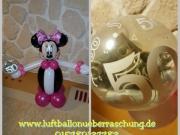 Kleine Minnie Mouse mit Geldgeschenk