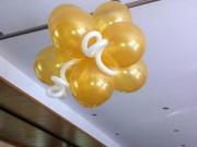 Decken Dekoration aus Luftbaollons