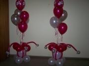 Boden-Dekoration aus Luftballons