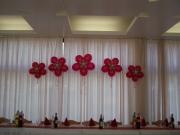 Blumenwanddekoration mit 5 Blumen