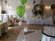 Bodendekoration mit Luftballons