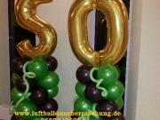 50. Geburtstag 2 Säulen mit Zahlen aus Luftballons