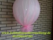 Heliumballon mit Stoff dekoriert, ca. 50 cm