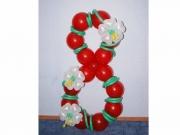 """""""8"""" aus Luftballons, Dekoration zum 8. Geburtstag"""