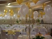 Hochzeit in gold/weis, Heliumballon