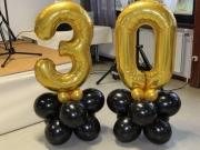 """""""30""""aus Luftballons, Dekoration zum 30. Geburtstag"""