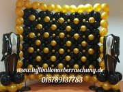 Fotowand aus Luftballons, Fotoshooting Wand