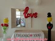 Hochzeitdekoration aus Luftballons