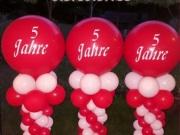 Säulen aus Luftballons, Firmenfest Säule