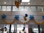 Wanddekoration aus Luftballons
