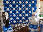 Fotoshooting Wand aus Ballons/Fotohintergrund