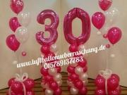 Luftballondekoration, Bodendekoration