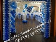 Eingangdekoration aus Ballons