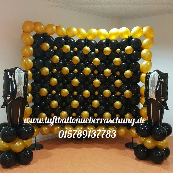 Hochzeit und valentinstag luftballon berraschung - Fotowand herz ...