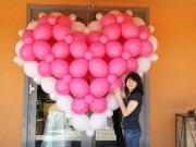 3D Herz aus Luftballons