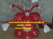 Hochzeitsdekoration mit Luftballons