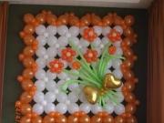 Wanddekoration/Bild aus Luftballons