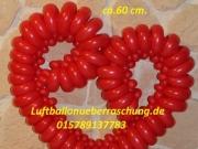 Herz aus Modellierballons