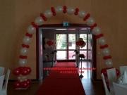 Eingang Hochzeit mit Helium