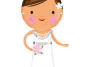 Hochzeit Braut, ca. 101cm