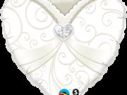 """Folienballon """"Kleid Herz Hochzeit"""""""