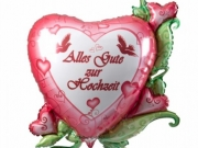 """Folienballon """"Traumhochzeit"""", """"Alles Gute zur Hochzeit"""""""