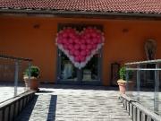 Herz aus Luftballons