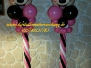 Säule aus Luftballons, Minnie Mouse