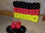 Deutsche Flagge aus Luftballon